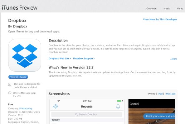dropbox-in-app-store